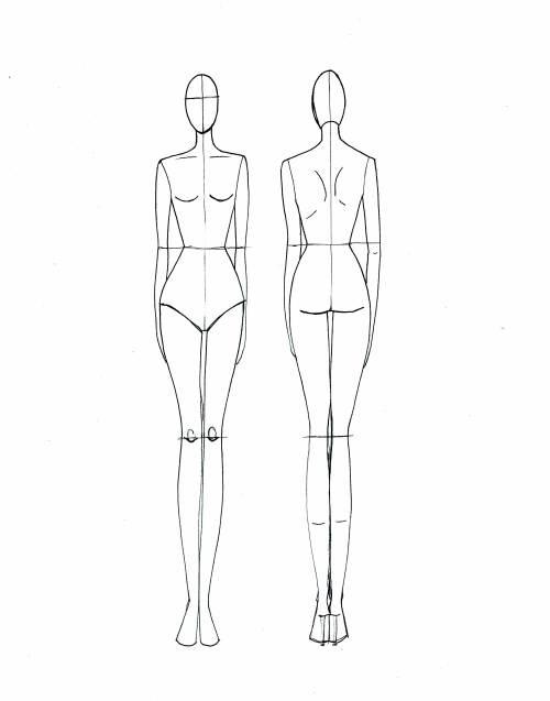 500x637 Drawn Fashion Fashion Model Full Body