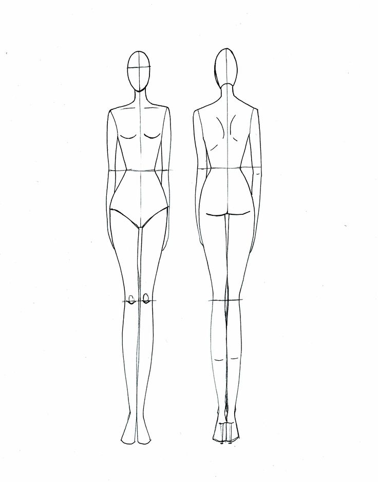 736x938 Fashion Illustration Templates Front And Back