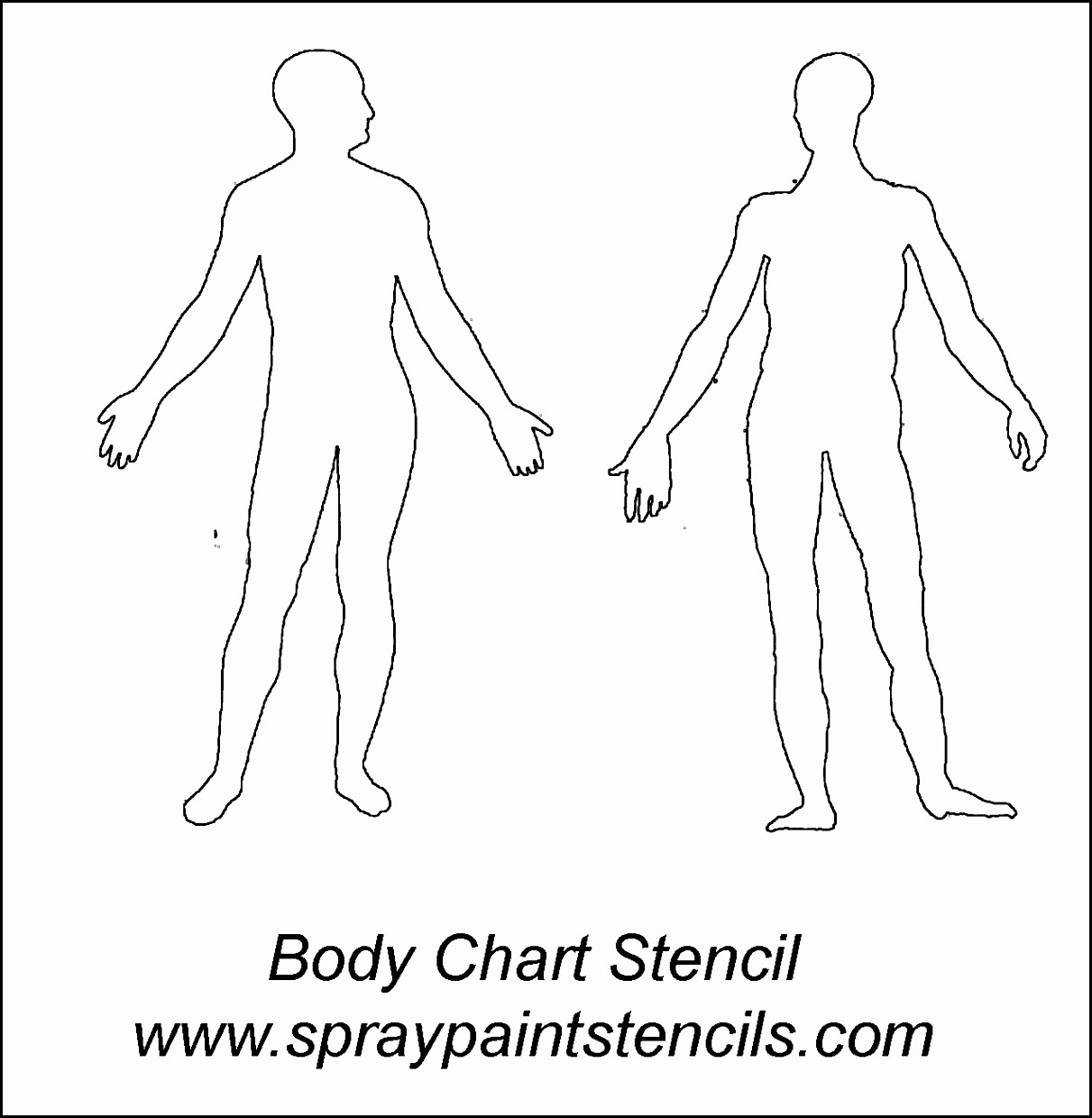 1211x1240 Stunning Body Drawing Template Images