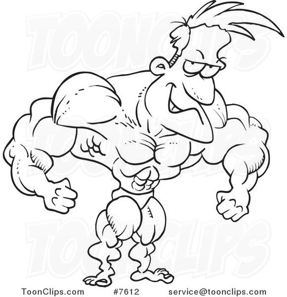 Bodybuilder Drawing At Getdrawings Com