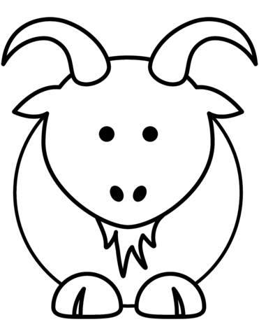 371x480 Cartoon Goat Coloring Page Free Printable Pages