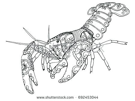 450x339 Crawfish Coloring Page Hat Coloring Pages Crawfish Boil Coloring