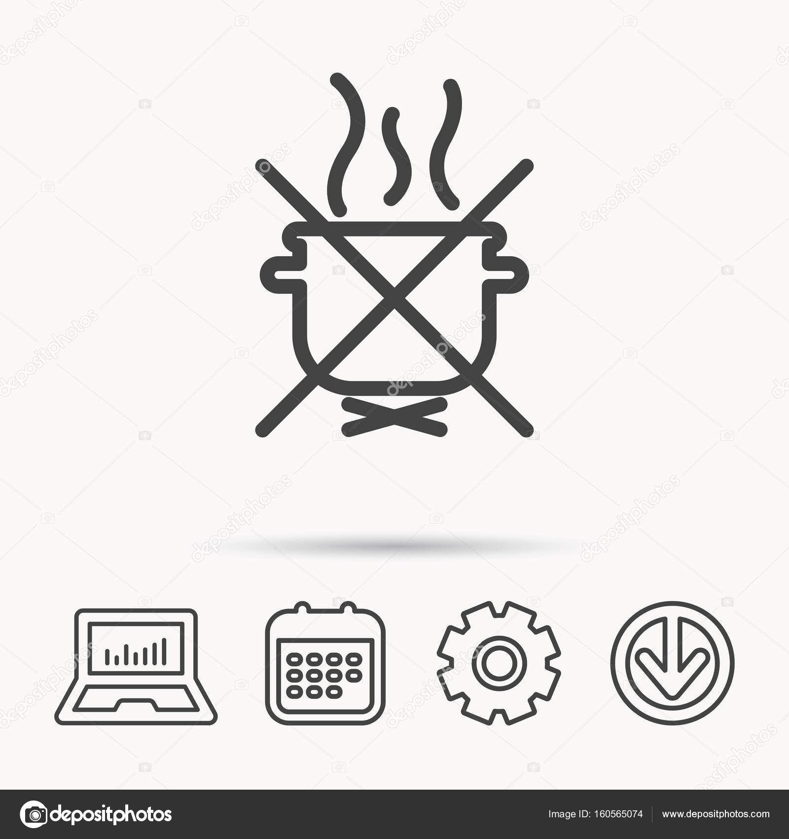 1600x1700 Boiling Saucepan Icon. Do Not Boil Water Sign. Stock Vector