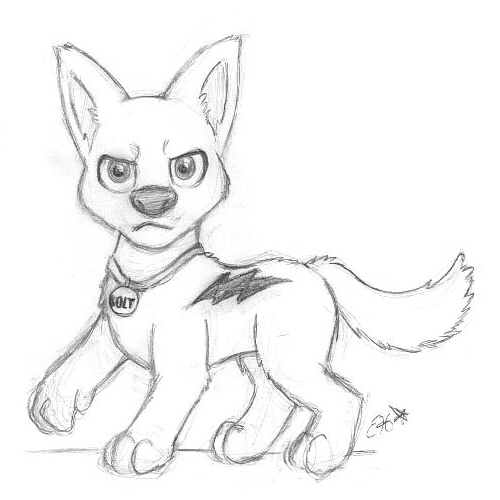 500x500 Bolt Sketch By Oemilythepenguino