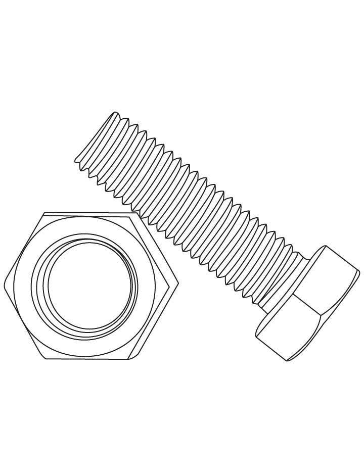 720x936 Bolt And Nut Coloring Pages Download Free Bolt And Nut Coloring
