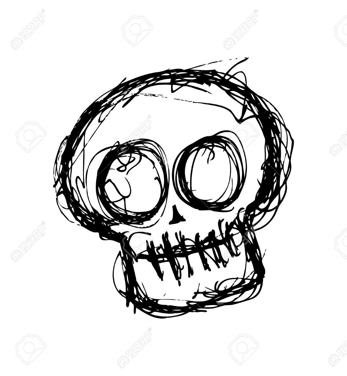 1199x1300 Drawn Hand Skull