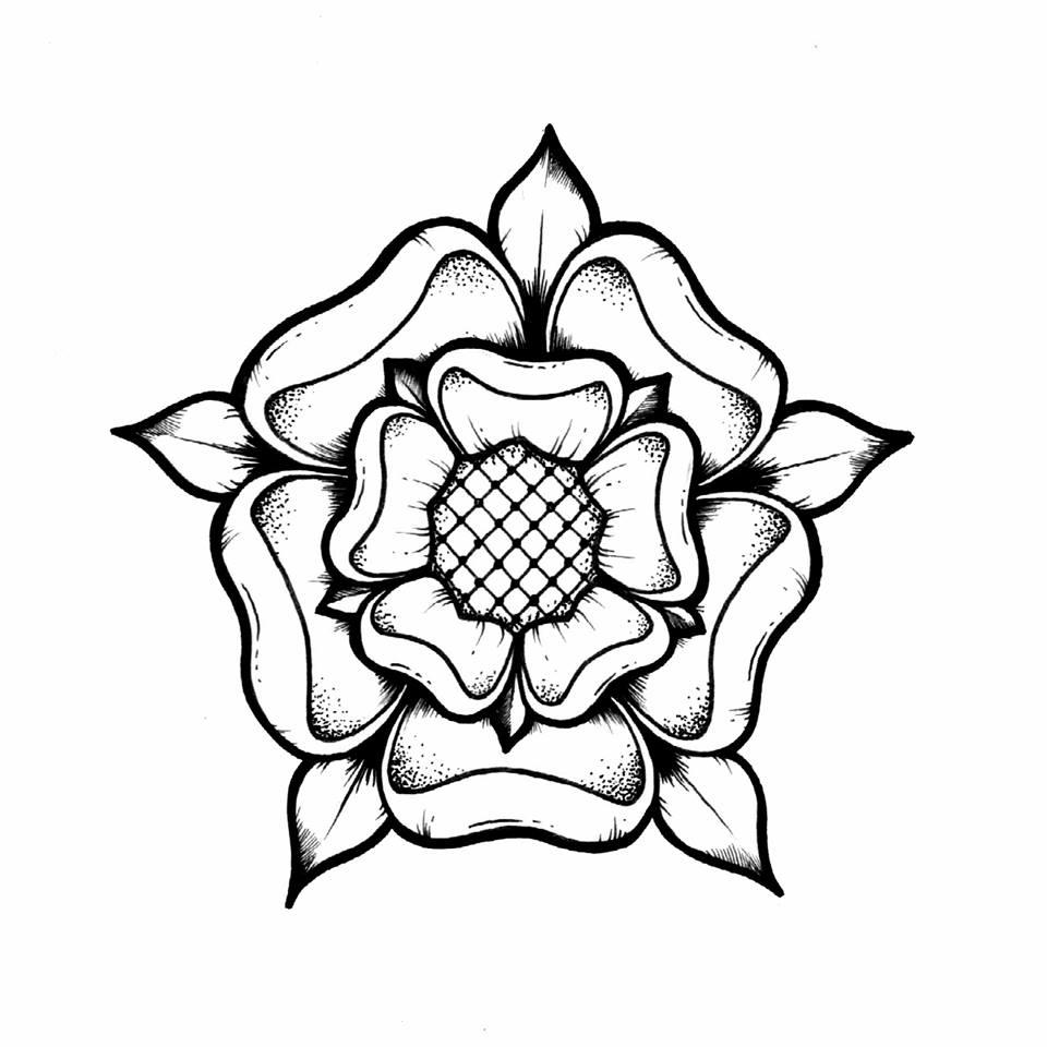 960x960 Lozzy Bones Tudor Rose Illustration Art Macabre Drawing Salons
