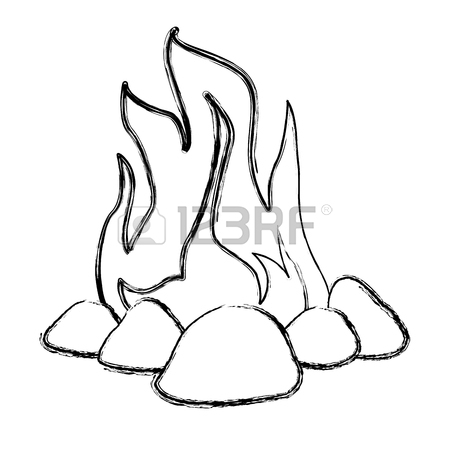 450x450 1,104 Sketch Campfire Stock Vector Illustration And Royalty Free
