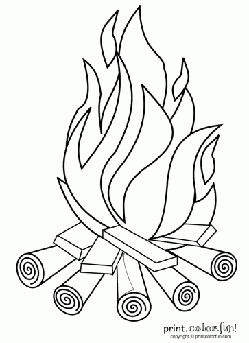 363x500 Campfire Print. Color. Fun! Free Printables, Coloring Pages