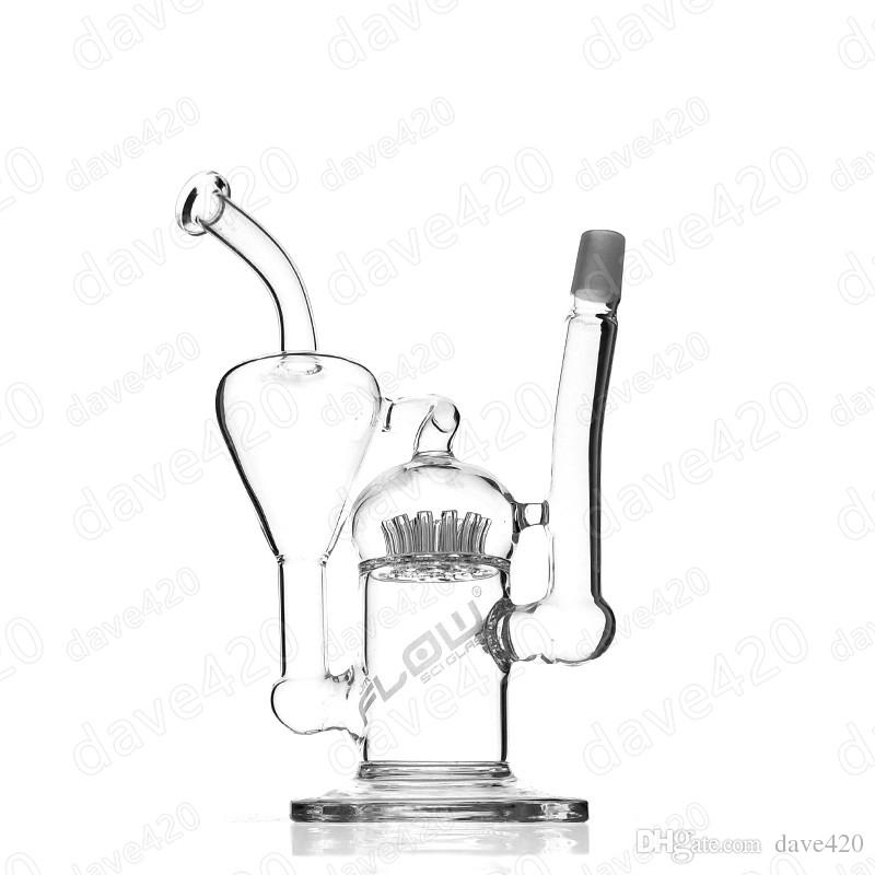 800x800 2018 Recycler Glass Jm Flow Glass Bong Glass Water Pipe With Perc
