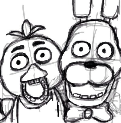400x404 Bonnie And Chica Sketch By Ellyproductions49