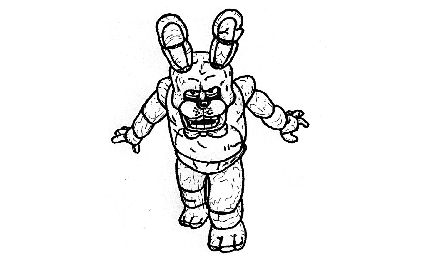 1500x885 How To Draw Bonnie From Five Nights