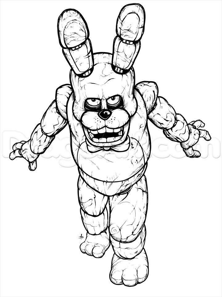 720x963 How To Draw Bonnie The Bunny, Five Nights