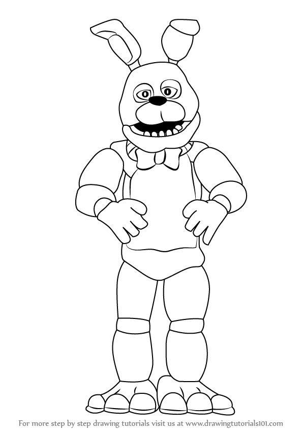 594x844 Learn How To Draw Bonnie (Five Nights