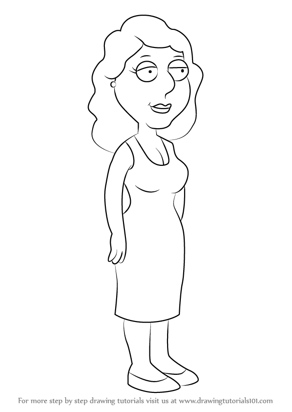 596x842 Learn How To Draw Bonnie Swanson From Family Guy (Family Guy) Step