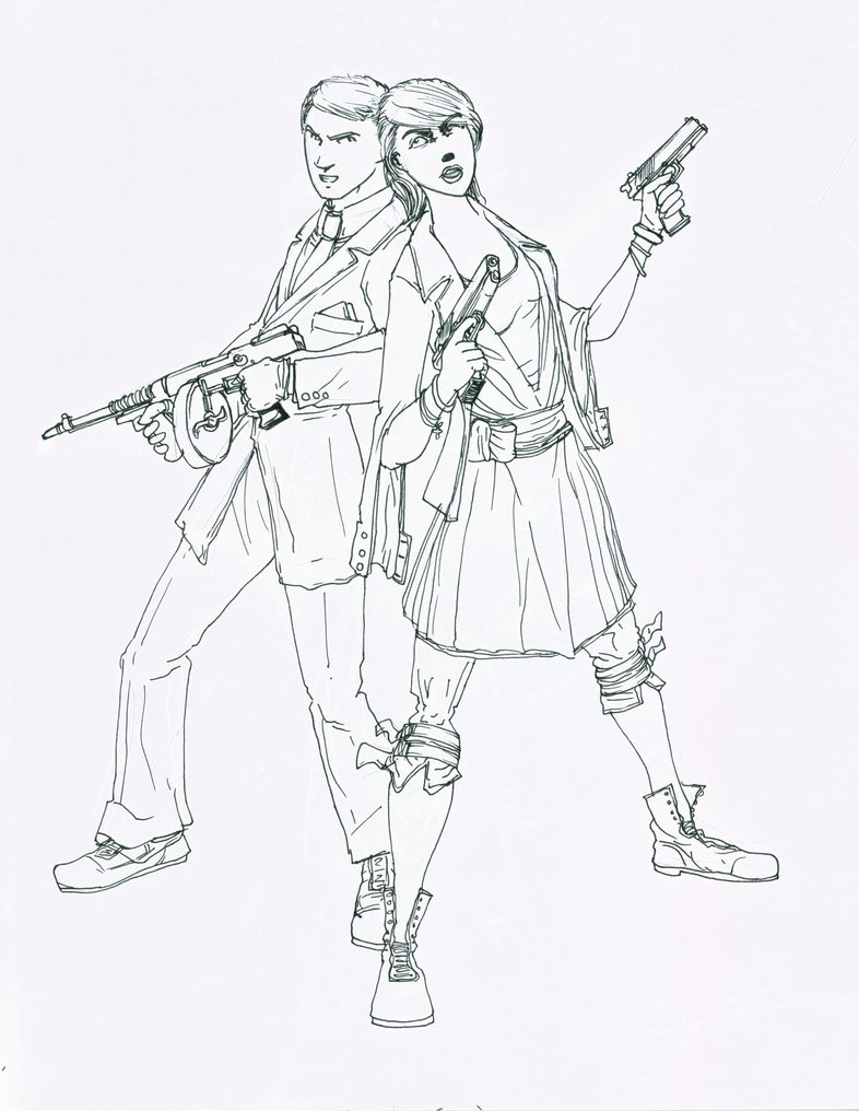 786x1016 Bonnie And Clyde Drawings Two Heroes Bonnie And Clydegeneralvyse