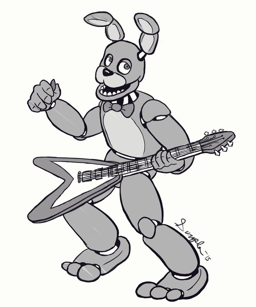 816x979 Bonnie Bunny Sketch By Surzsha