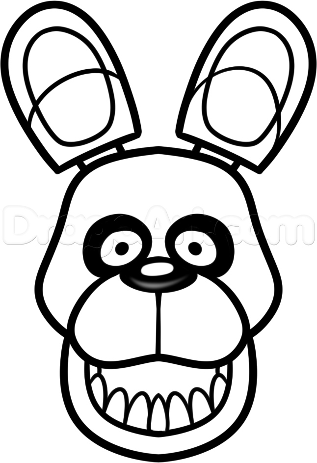 646x943 Bonnie How To Draw Easy Five Nights