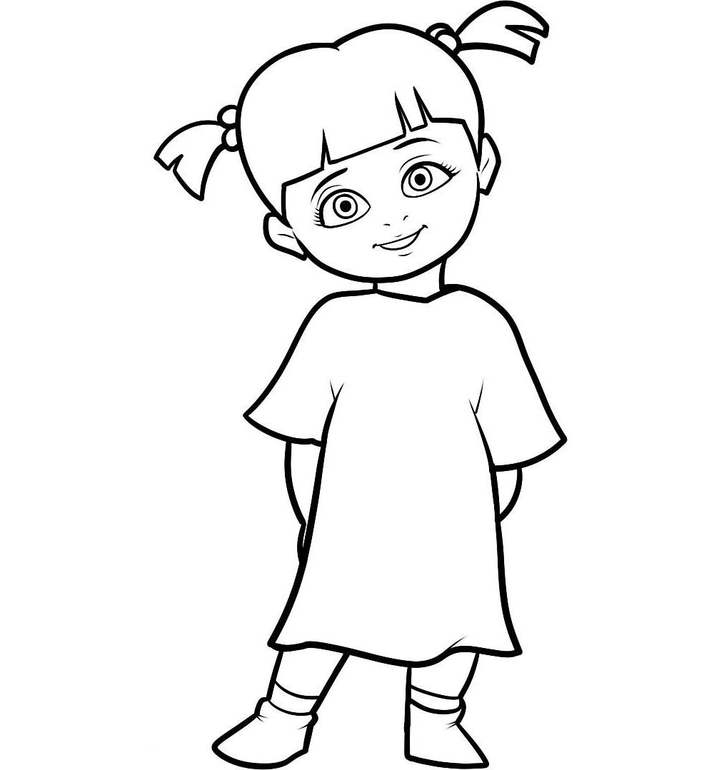 1007x1079 Character Little Boo Monster Inc Coloring Pages Coloring Pages