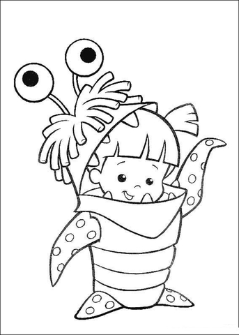 343x480 Boo Coloring Page Free Printable Coloring Pages