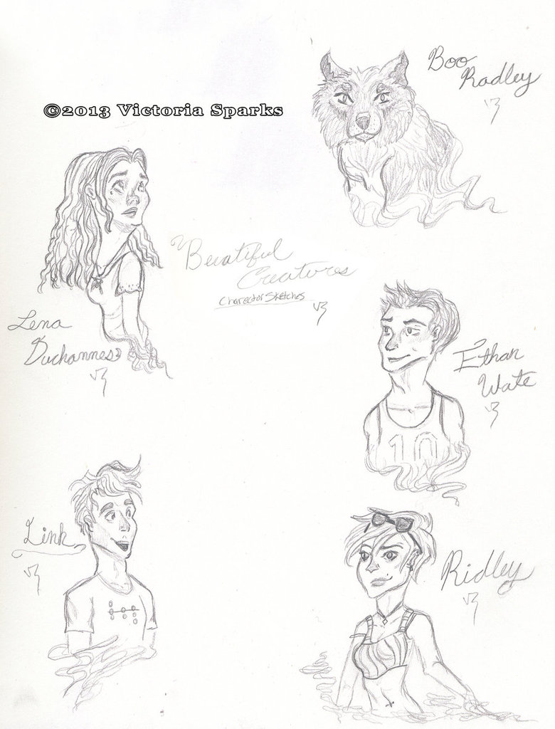 780x1024 Beautiful Creatures Character Sketches By Out2discover
