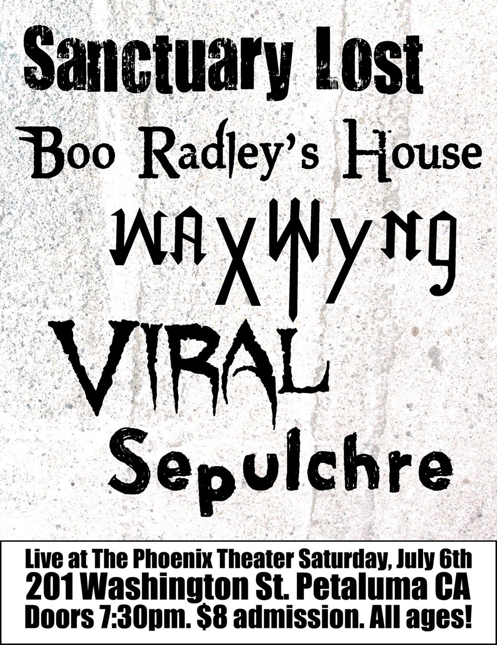 988x1280 Sanctuary Lost, Boo Radley's House Tickets The Phoenix Theater
