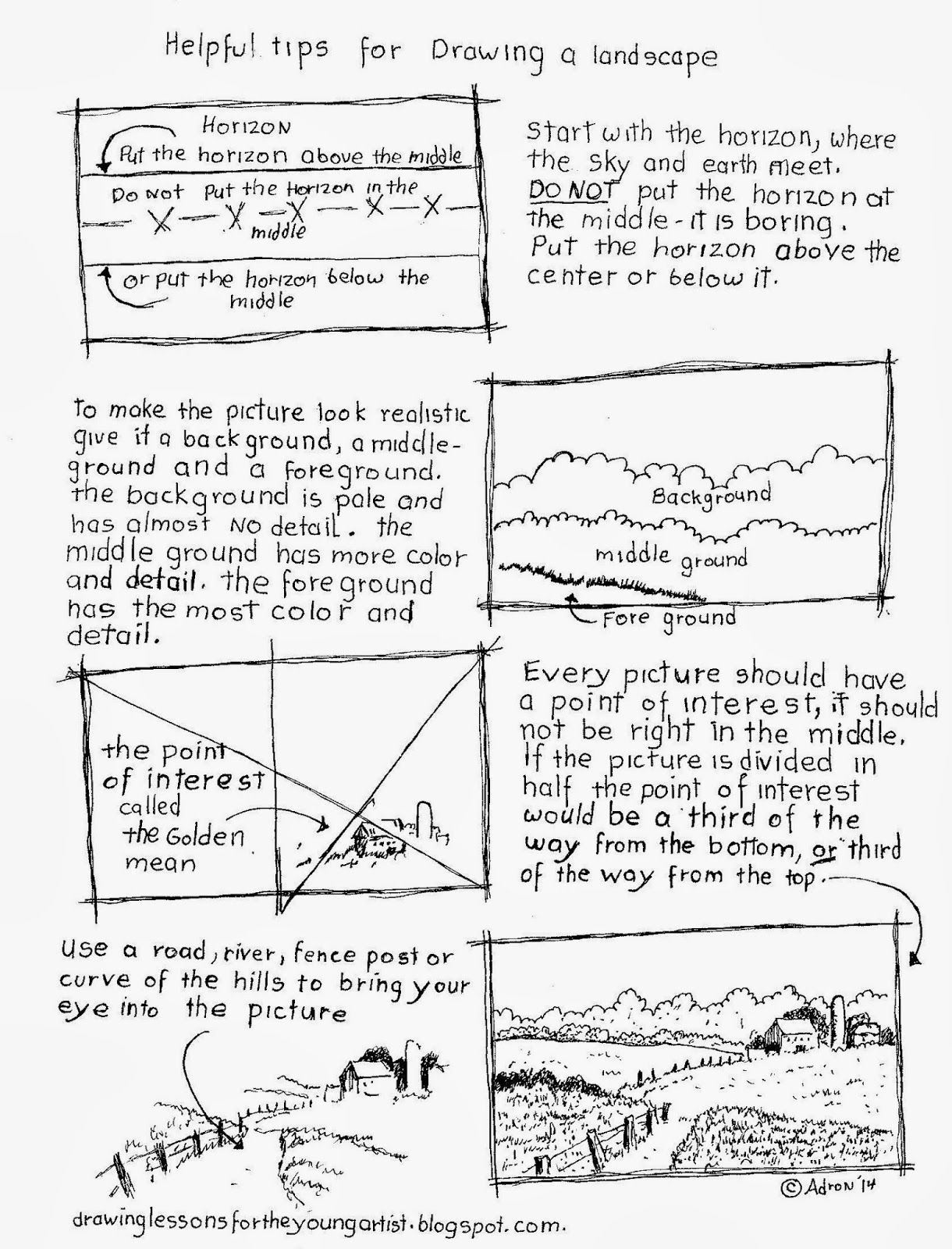 1220x1600 Tips For Drawing A Landscape Worksheet. See More