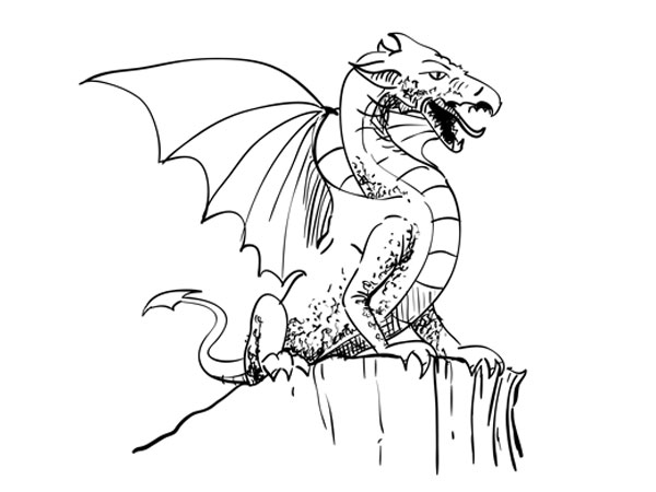 600x450 How To Draw A Dragon Sketchbook Challenge 53