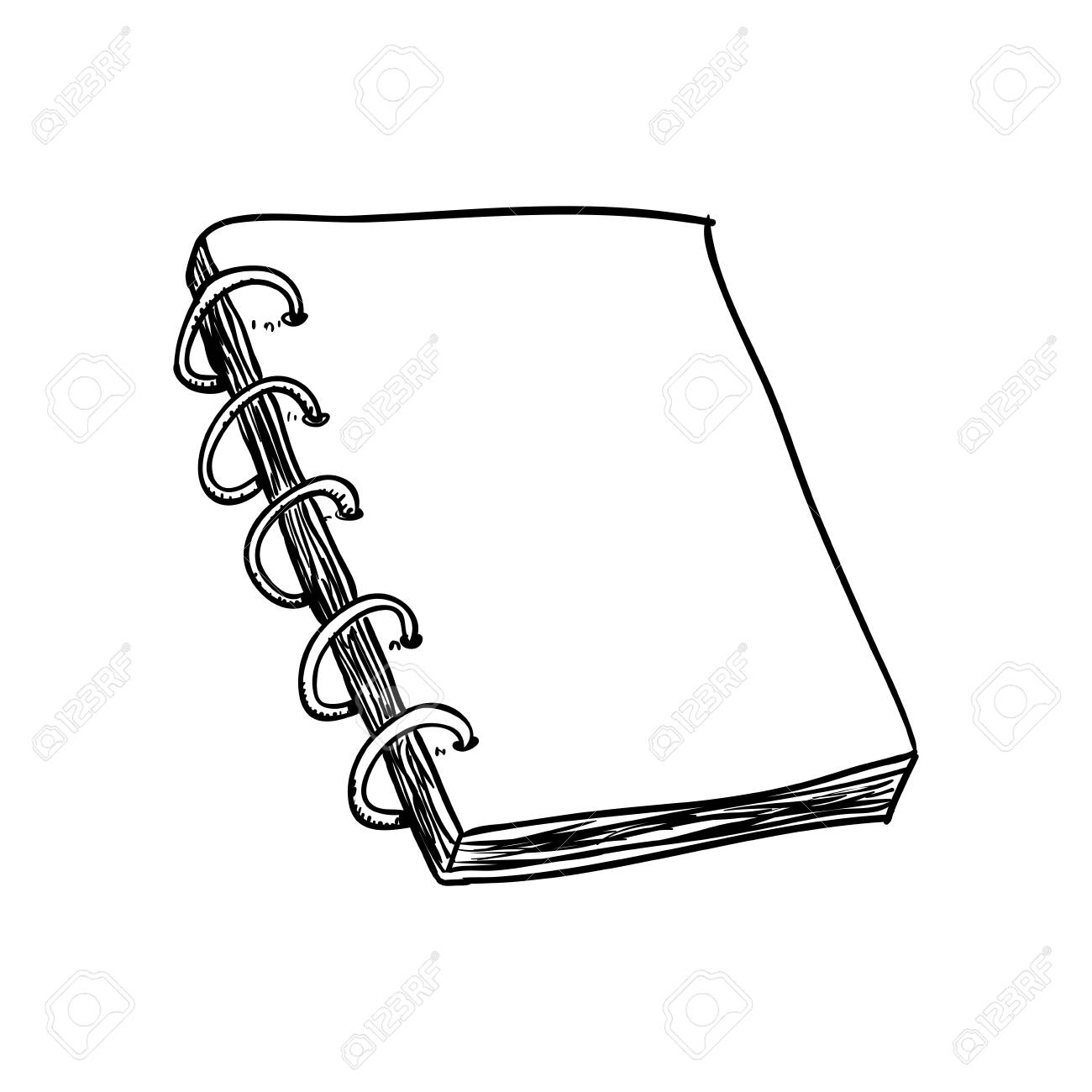 1300x1300 Note Book Draw Icon Vector Illustration Graphic Design Royalty