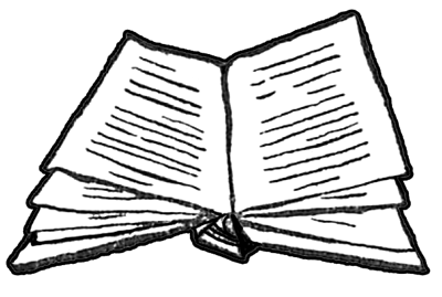 400x269 Finished Drawing Of Open Books Instructions