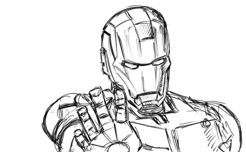 825x510 Iron Man Sketch Sketch Draw Illustrate