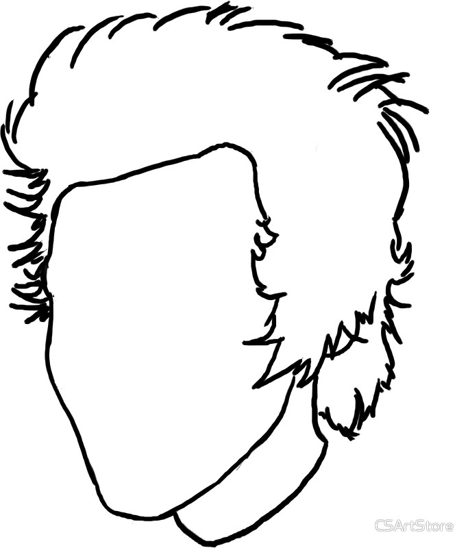683x800 Harry Styles Outline Drawing Stickers By Csartstore Redbubble