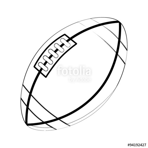 500x500 Illustration Coloring Book Series Sport Ball Rugby Ball