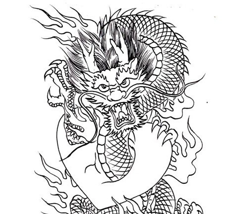 460x432 Pdf Format Tattoo Book 83 Pages Dragon Outline Tattoo Sketches