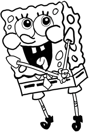 300x442 Willpower Spongebob Outline Draw 18 About Remodel Free Coloring