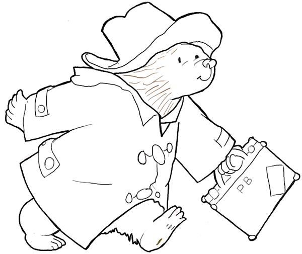 600x505 How To Draw Paddington Bear From The Book Series Simple Drawing
