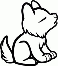 236x267 Coloring Pages Easy Drawings For Kids Cute Wolf Cartoon Coloring
