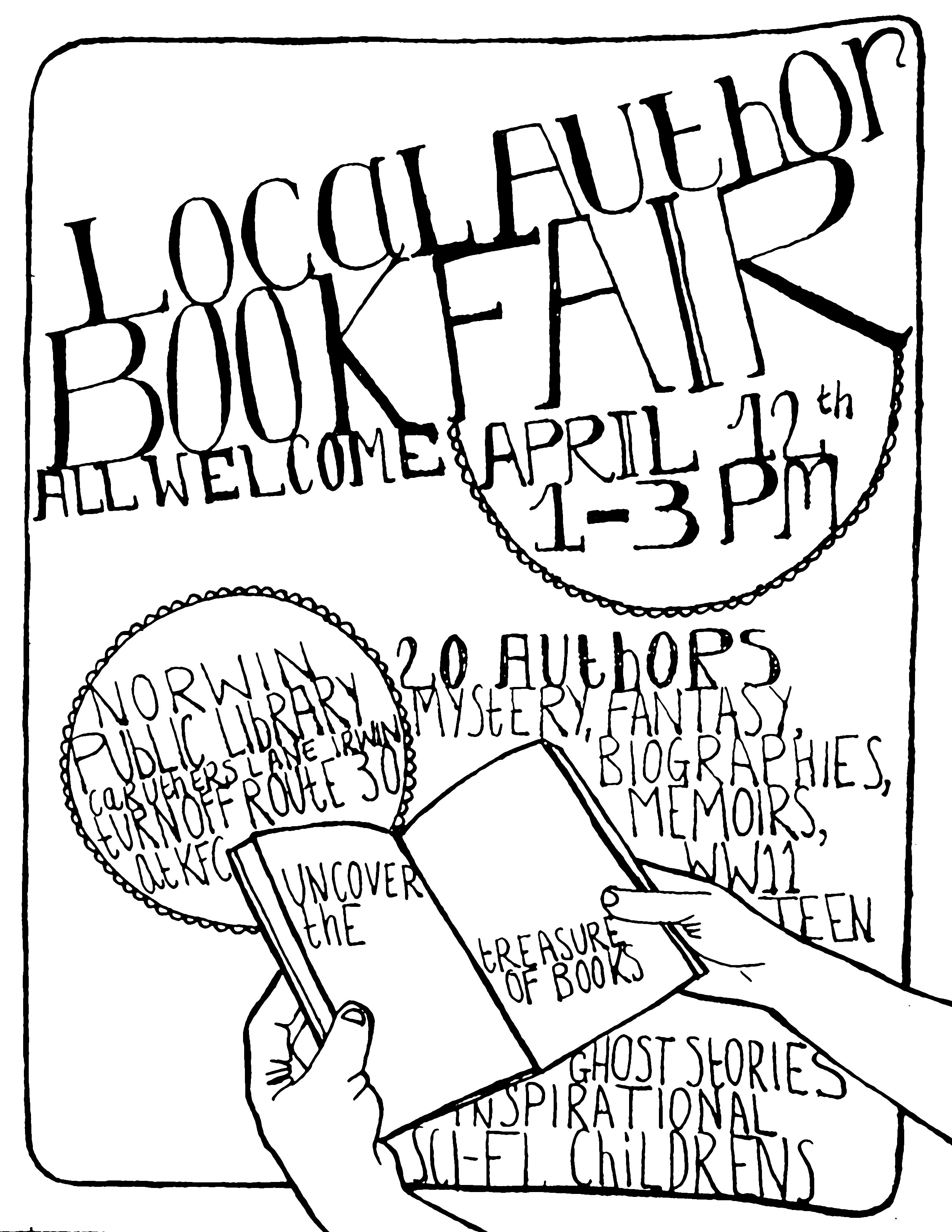 2550x3300 Norwin Library Book Fair Poster Assignment 2 Book