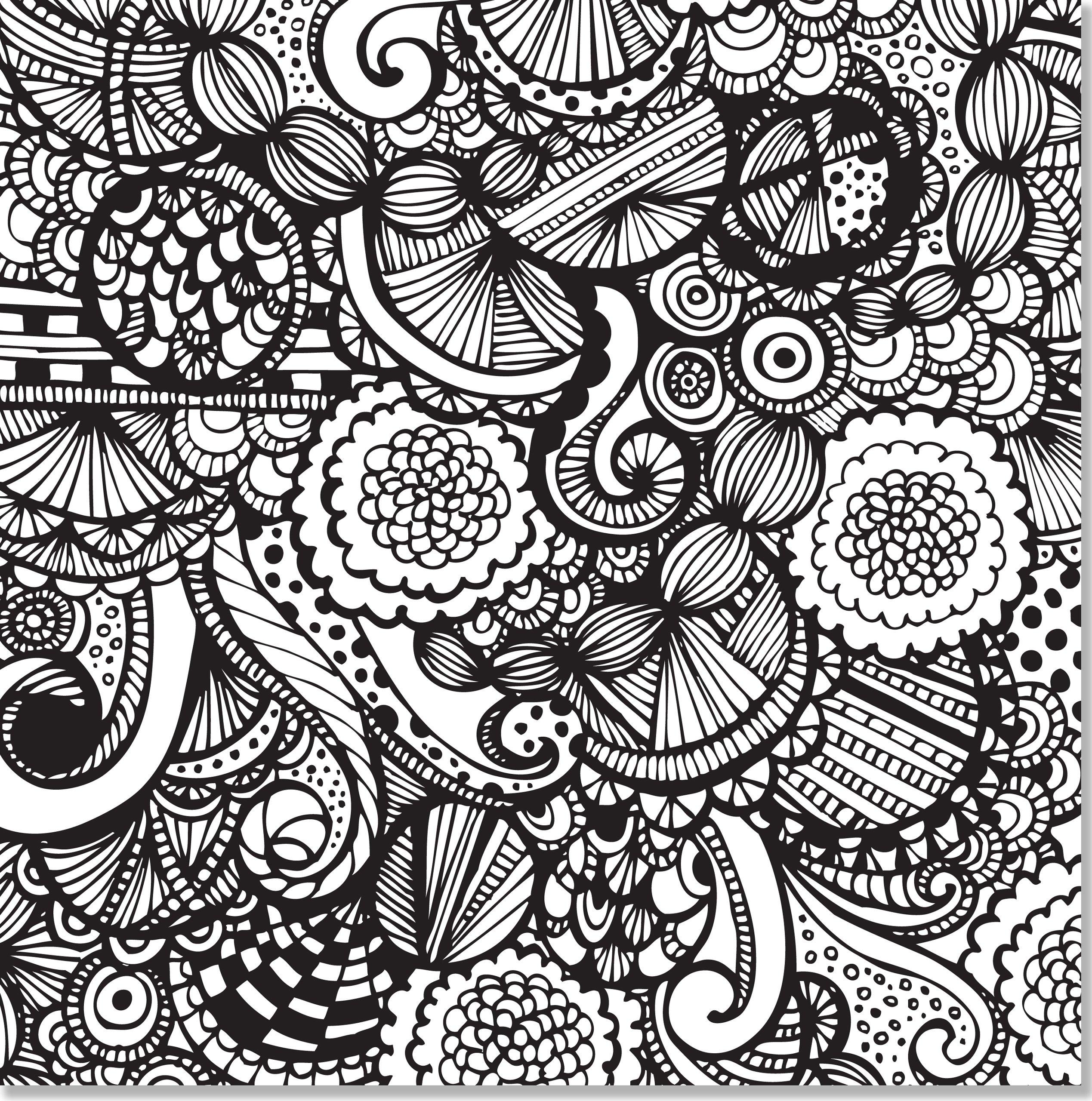 2538x2560 Joyful Designs Adult Coloring Book 31 Stress