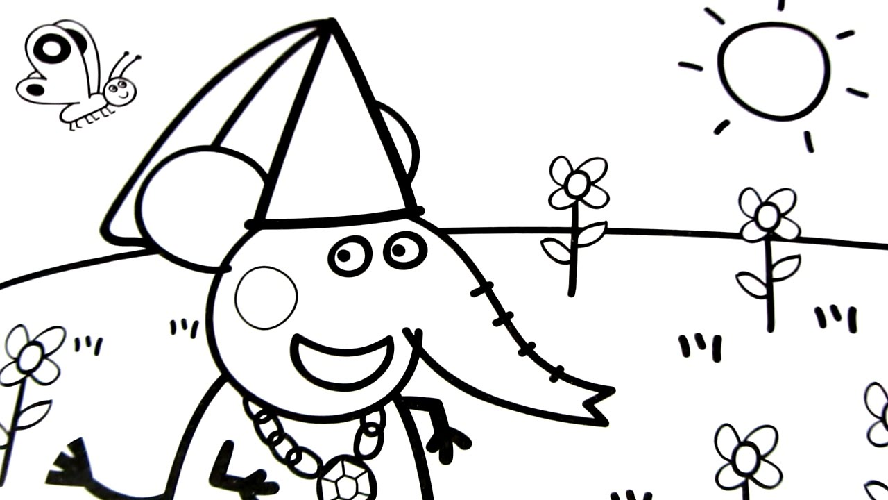 1280x720 peppa pig coloring pages kids fun art coloring book video for kids
