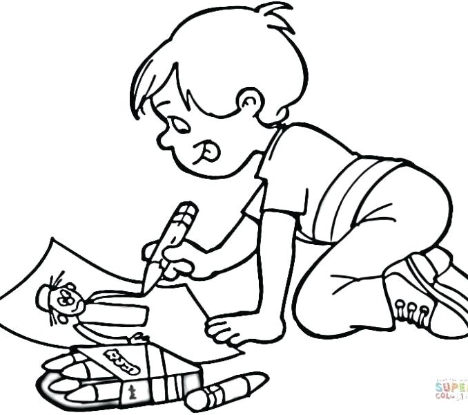 678x600 Elegant Kids Drawing Coloring Pages For Funny Children Coloring