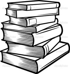 236x250 Stacked Books Clipart Clip Art Books Black And White Bible