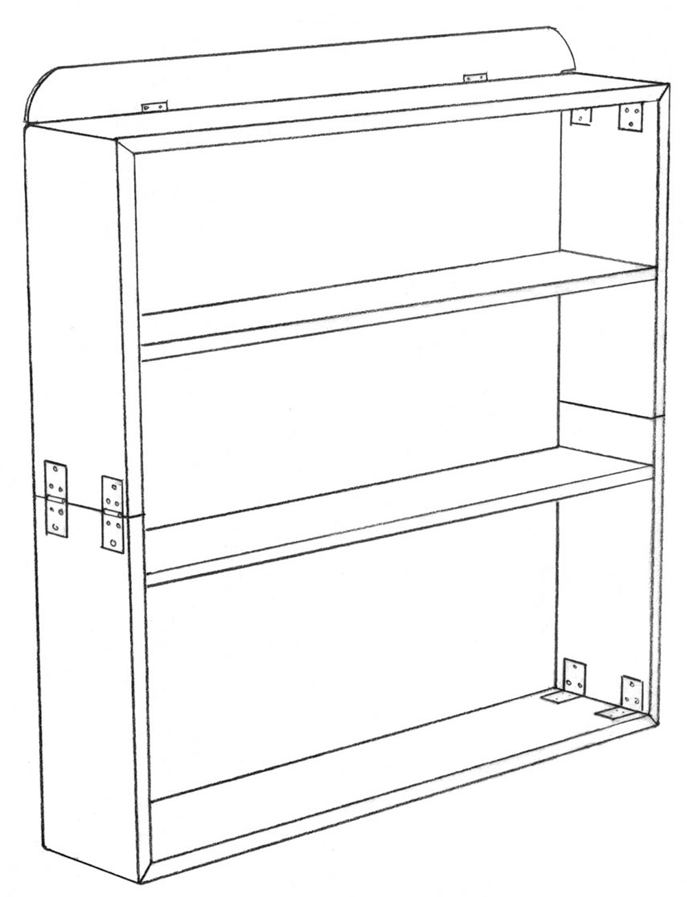 1000x1307 Collapsible Bookshelves Lost Art Press