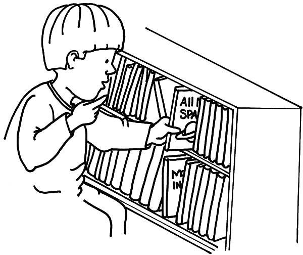 600x504 Kid Put Back Book In Bookshelf Coloring Pages Best Place To Color