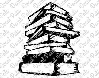 340x270 Book Stack Svg Etsy