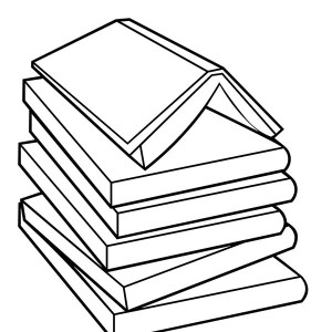 300x300 Butterfly Over The Book Coloring Page Coloring Sun