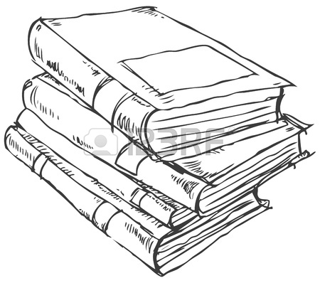 450x398 Doodle Of Books Stack Royalty Free Cliparts, Vectors, And Stock