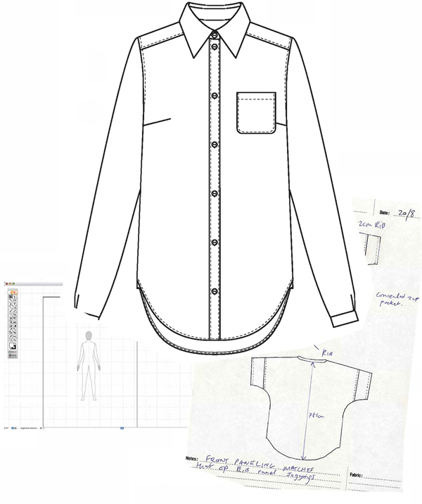 600x715 Part 1 Technical Fashion Drawing