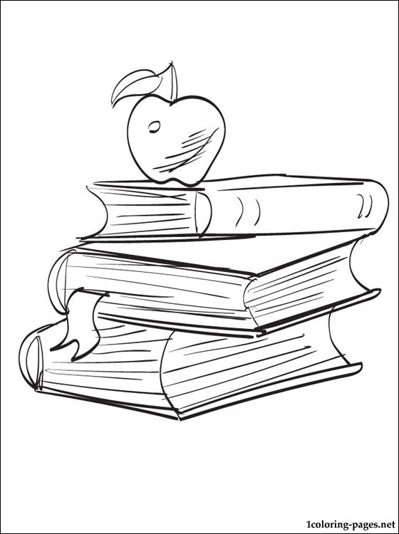 560x750 School Books Coloring Page Coloring Pages
