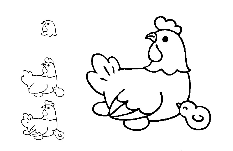 800x520 Drawing For Kids To Color Coloring Page